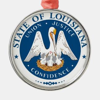 Louisiana state flag usa united america symbol sea Silver-Colored round decoration
