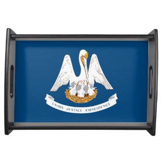Louisiana state flag usa united america symbol serving tray
