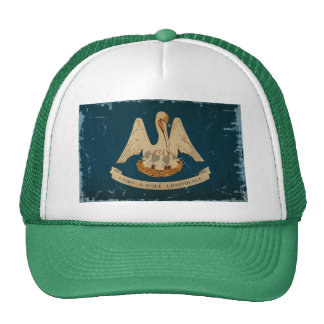 Louisiana State Flag VINTAGE.png Mesh Hat
