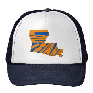 Louisiana State Name Word Art Orange Trucker Hat