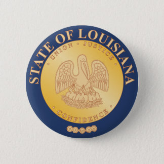 Louisiana State Seal 6 Cm Round Badge