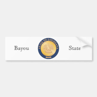 Louisiana State Seal and Motto Bumper Sticker