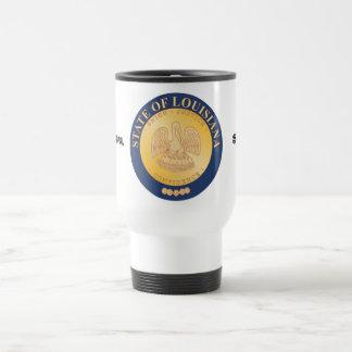 Louisiana State Seal and Motto Travel Mug