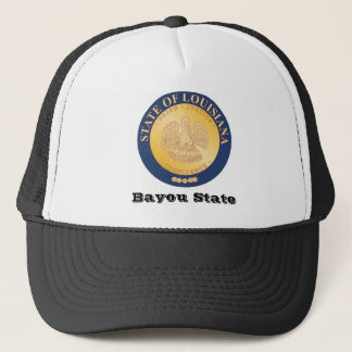 Louisiana State Seal and Motto Trucker Hat