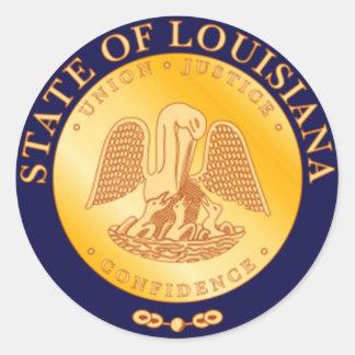 Louisiana State Seal Round Sticker