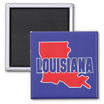 Louisiana State Square Magnet