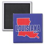 Louisiana State Square Magnet
