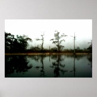 Louisiana Swamp Morning Poster