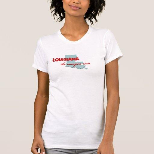 Louisiana, the vampire state t shirt