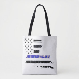 Louisiana Thin Blue Line Police Tote Bag Law Cops
