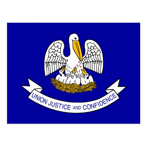 Louisiana, United States flag Post Cards