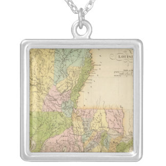 Louisiana US Silver Plated Necklace