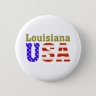 Louisiana USA! 6 Cm Round Badge