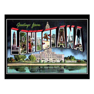 Louisiana Vintage Postcard