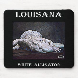 Louisiana White Alligator Mouse Pad