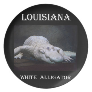 Louisiana White Alligator New Dinner Plate