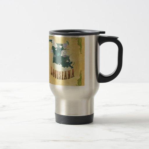 Louisiana With Lovely Birds Coffee Mugs