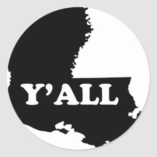 Louisiana Yall Classic Round Sticker