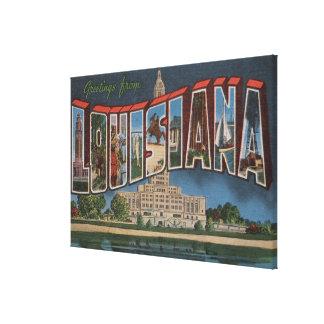LouisianaLarge Letter ScenesLouisiana 3 Canvas Print