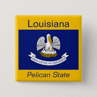 Louisianan Flag Button