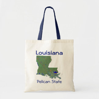 Louisianan Map Bag