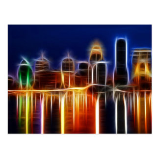Louisville abstract postcard