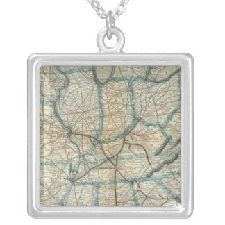 Louisville and Nashville Railroad 2 Silver Plated Necklace