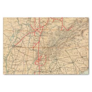 Louisville and Nashville Railroad Tissue Paper