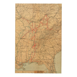 Louisville and Nashville Railroad Wood Print