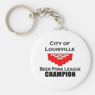 Louisville Beer Pong Champion Key Chains