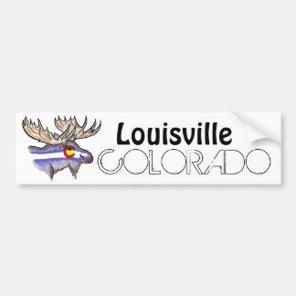 Louisville Colorado artistic elk bumpersticker Bumper Sticker