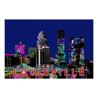 Louisville in graffiti poster