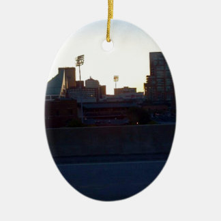 """LOUISVILLE, KENTUCKY CITY SKYLIN""E SCENE"" CHRISTMAS ORNAMENT"