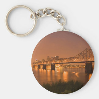 Louisville Kentucky Night Lights Bridge Ohio River Key Ring
