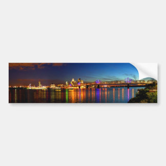 Louisville Kentucky Skyline Bumper Sticker