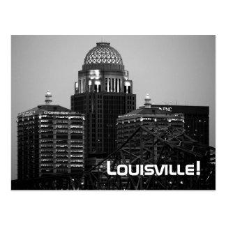 Louisville, KY - Black & White Print (Postcard) Postcard