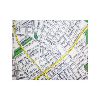 LOUISVILLE, KY Vintage Map Canvas Print