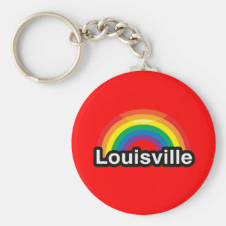 LOUISVILLE LGBT PRIDE RAINBOW KEY CHAIN