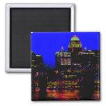 Louisville Neon Skyline Magnet