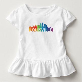 Louisville Pride Toddler Ruffle Tee