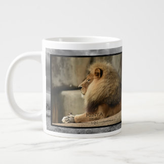 Louisville Pride with Lion Kenya in Memoriam Large Coffee Mug