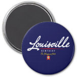 Louisville Script Fridge Magnet