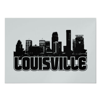Louisville Skyline 13 Cm X 18 Cm Invitation Card