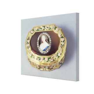 Louix XV oval snuff box Canvas Print