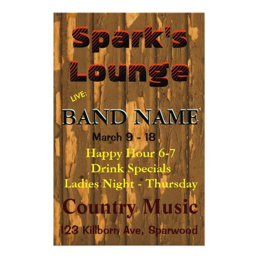 Lounge, Bar Tavern Live Music Full Color Flyer