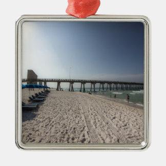 Lounge Chairs at Panama City Beach Pier Christmas Ornament