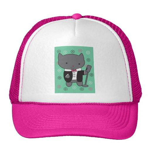 Lounge Singer Cat Mesh Hats