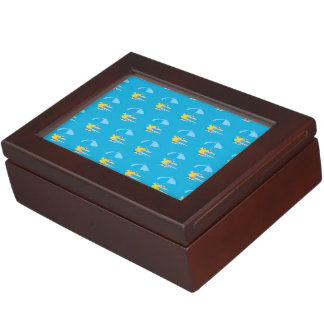Lounging blue keepsake boxes