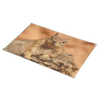 Lounging Chipmunk Placemat Cloth Placemat