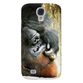 Lounging Gorilla 3/3GS  Galaxy S4 Case